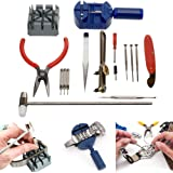 TekBox® 16 Piece Watch Repair Tool Kit Set / Pin and Back Remover / Wrist Strap Adjust