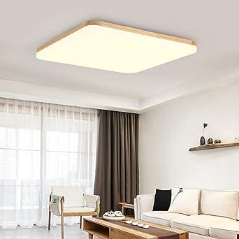 Aoligei Dünne LED Decken Einfache Moderne Massivholz Wohnzimmer  Arbeitszimmer Schlafzimmer Lampen