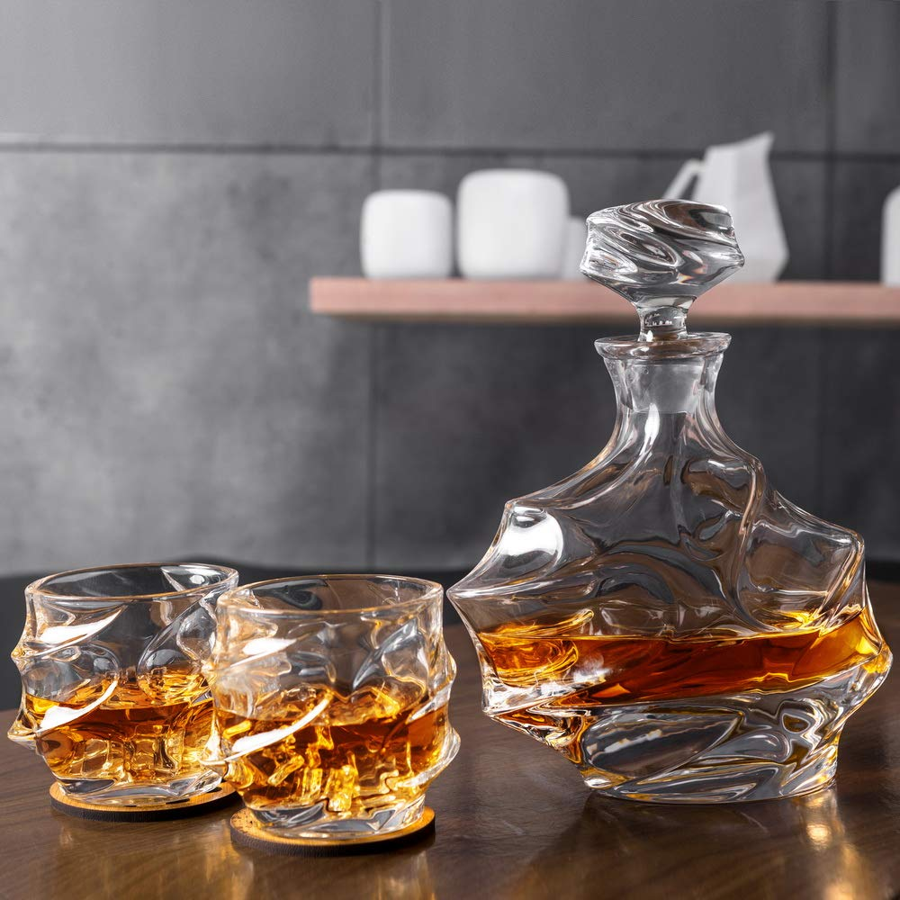 KANARS Emperor Whiskey Decanter And Glasses Set With Luxury Gift Box For Scotch + Bourbon + Liquor, 5-Piece, Original by KANARS (Image #9)