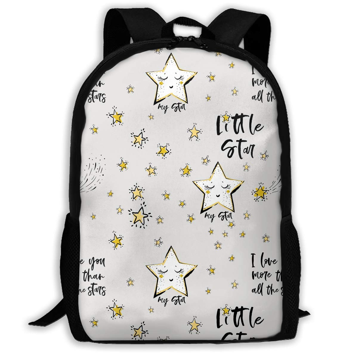 7a151300eee0 TAOHJS106 Baby Sky with Star Pattern Waterproof Adult Backpack Shoulder Bag  for Women and Men Premium Durable Rucksack Bookbag Best for Athletic