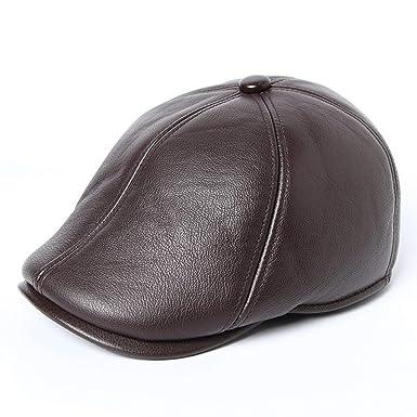HaiDean Gorra Plana Sombrero De Vintage Cuero Vendedor De ...
