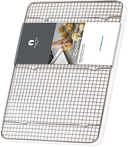Cooling Rack Stainless Steel Half size - Commercial Grade Steel 11.5