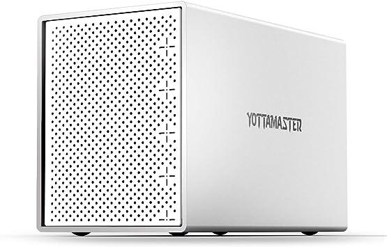 Yottamaster Aluminio Carcasa Externa Raid para 5 Discos Duros de 3.5
