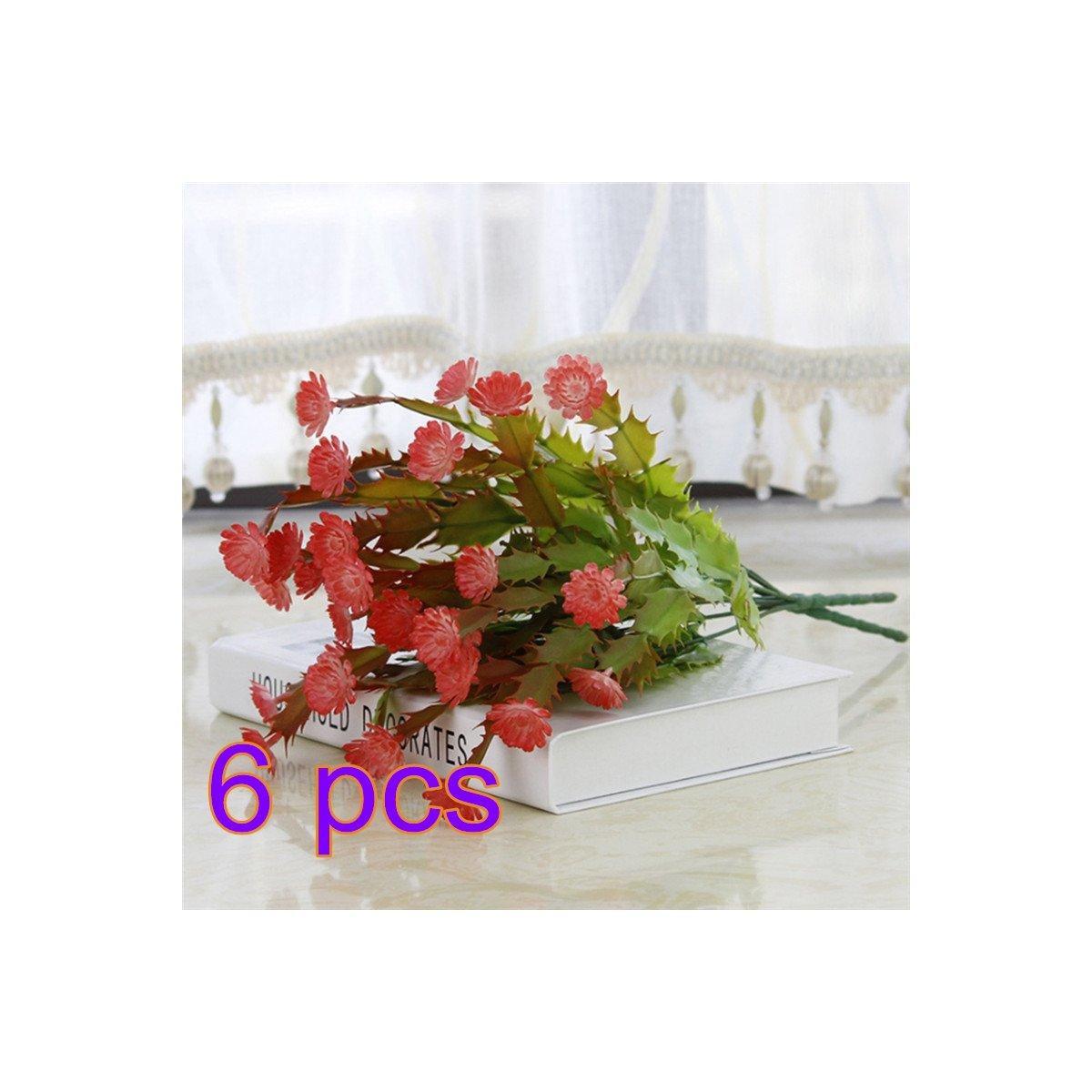 Amazon.de: Vafany Künstliche Fake Blumen, 6 Faux Kaktus Greenery ...