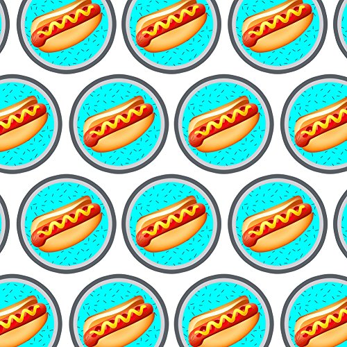 Premium Gift Wrap Wrapping Paper Roll Food Drink Bacon Coffee - Hot Dog of Awesomeness Hot Dog Wrap