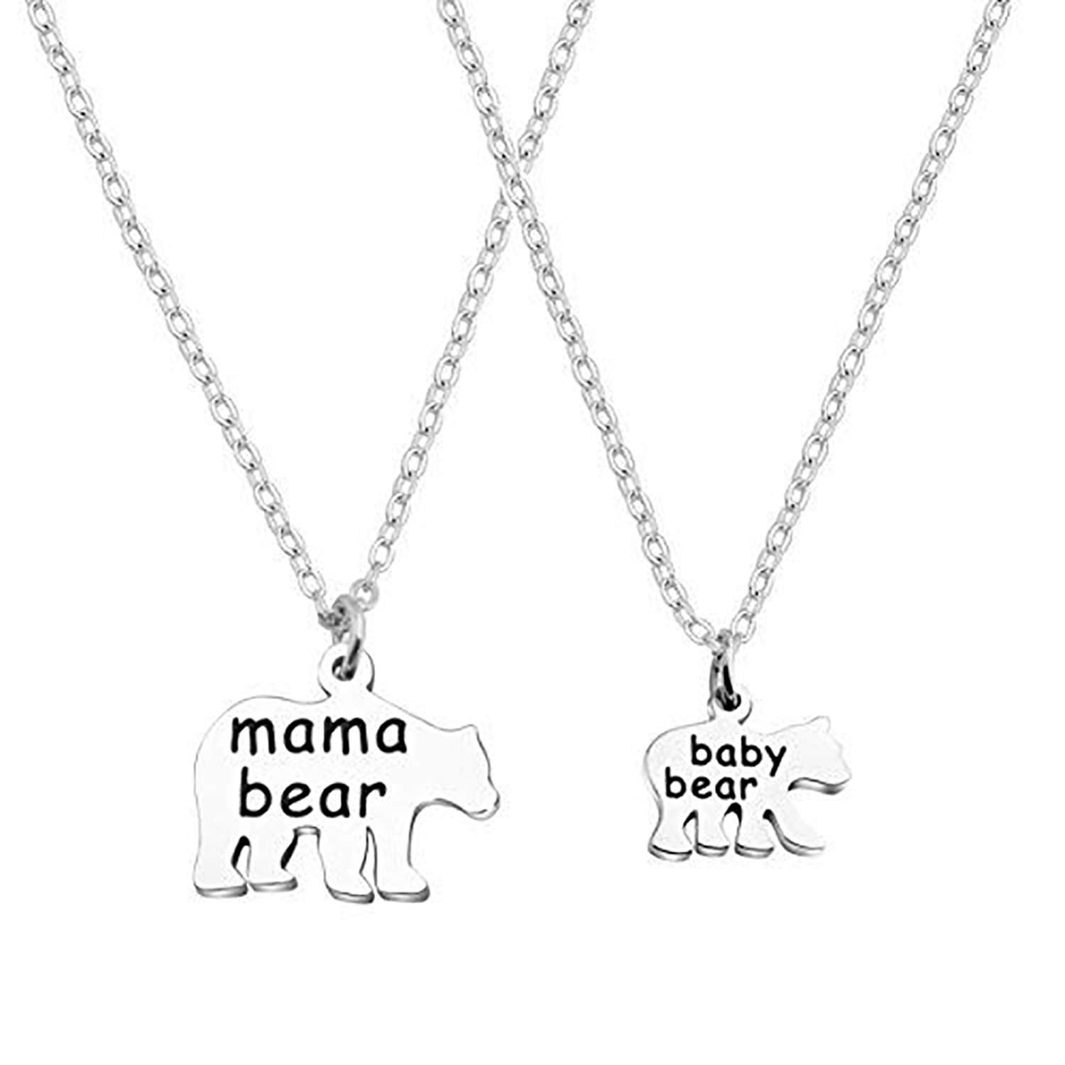15bf29f9313 Amazon.com  CHOROY Mama Bear Baby Bear Necklace Set Mother Daughter Necklace  Gift for Mom and Daughter (Mama Bear Necklace Set)  Jewelry