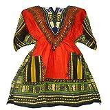Womens Dashiki Shirt Elastic Waist Mini Dress Tribal Traditional wear One Size