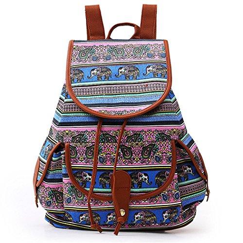 Dos à Sac femme Cartable en mode dos sac pour Dos étudiant Style Imprimé ethnique Voyages Sac B à vent à Loisir sac Toile loisir à dos Sac Pour TBwz5n