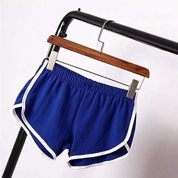 DKXLW Pantalones Cortos De Mujer,Algodón De Poliéster Azul Verano ...