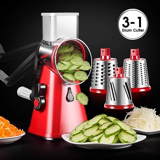 Manual Pull Kitchen Cebolla Ajo Comida Carne Frutas Picadora//Batidora//Batidora con 3 Cuchillas Cortador de Vegetales