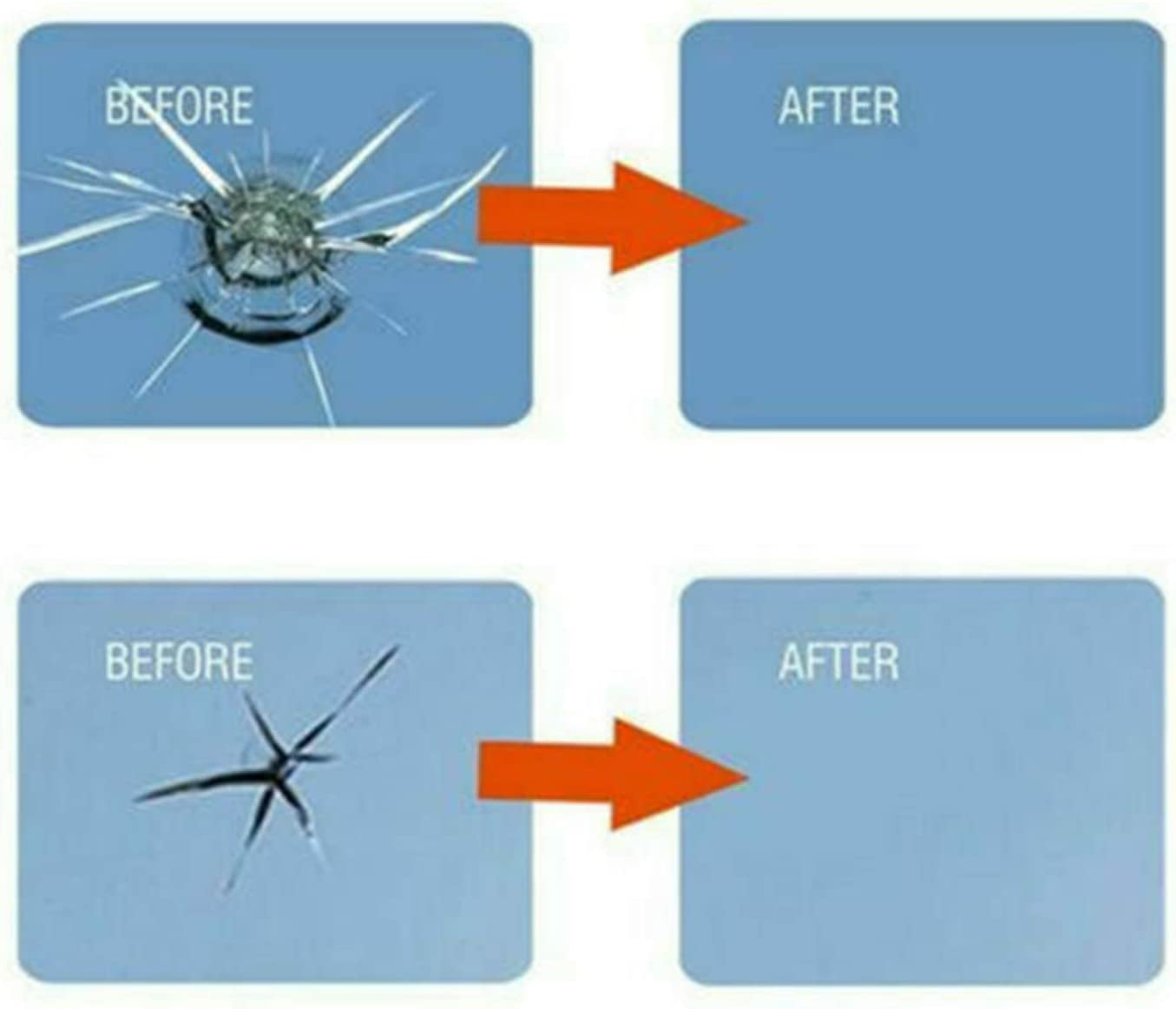 FairytaleMM 2pcs Auto Windshield Glass Chips Crack Resin Glue Universal Car Window Repair Kit Car Window Repair Polishing Fix Kit White