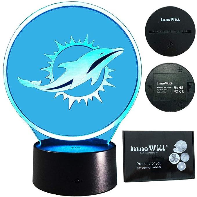 InnoWill Miami Dolphins - Lámpara con forma de balón de fútbol ...