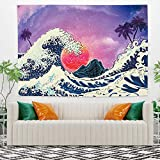 Yongto 59.1x51.2 Inches The Great Wave Tapestry