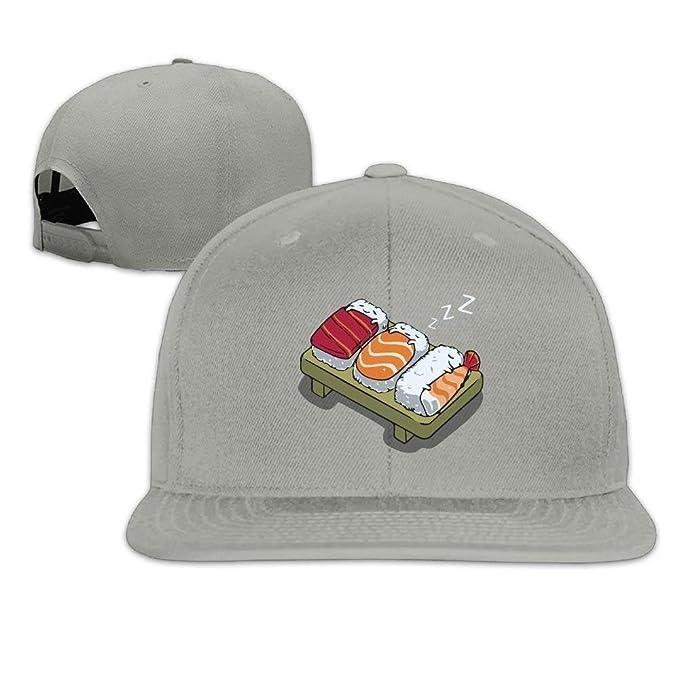 Sleeping Sushi Baseball Caps Tumblr Backsnap Hats Bones Hip Hop Caps Men Women: Amazon.es: Ropa y accesorios