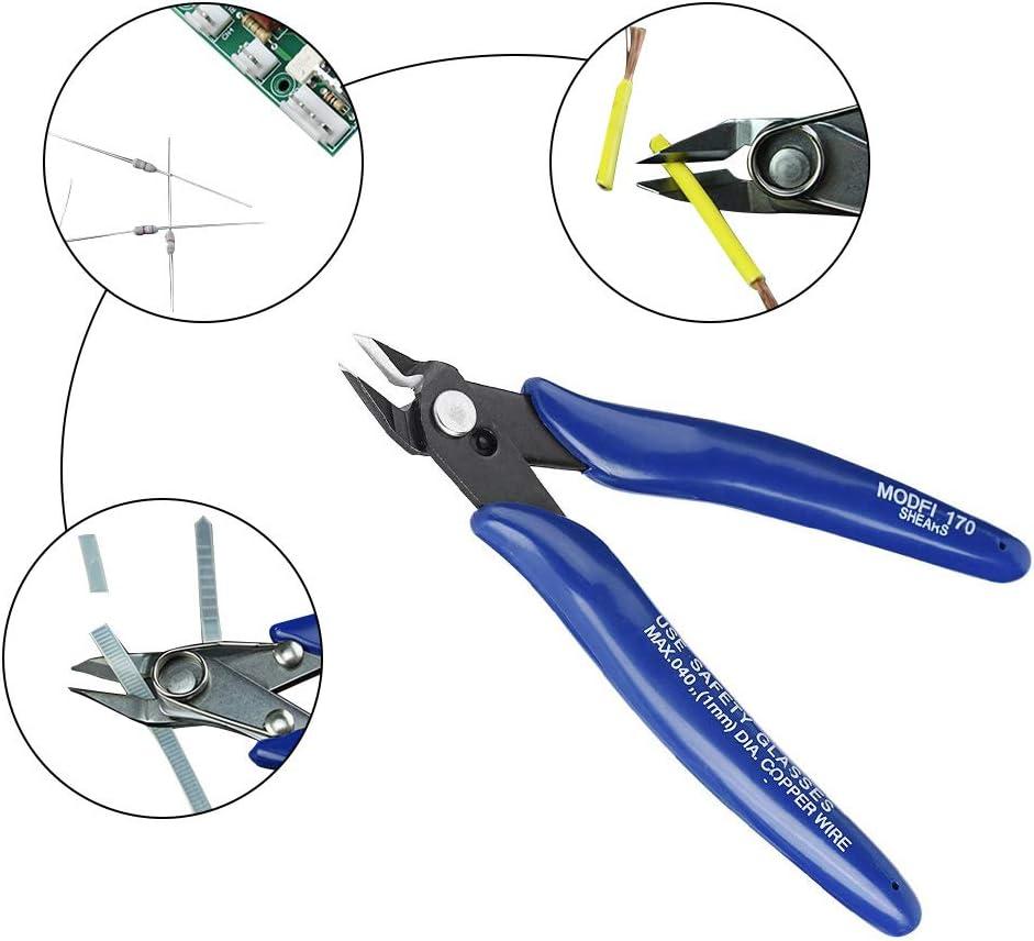 DollaTek Cortador de alambre de impresora 3d de 2 piezas pinzas laterales cortador de alambre tijeras tijeras herramienta de alicates diagonales