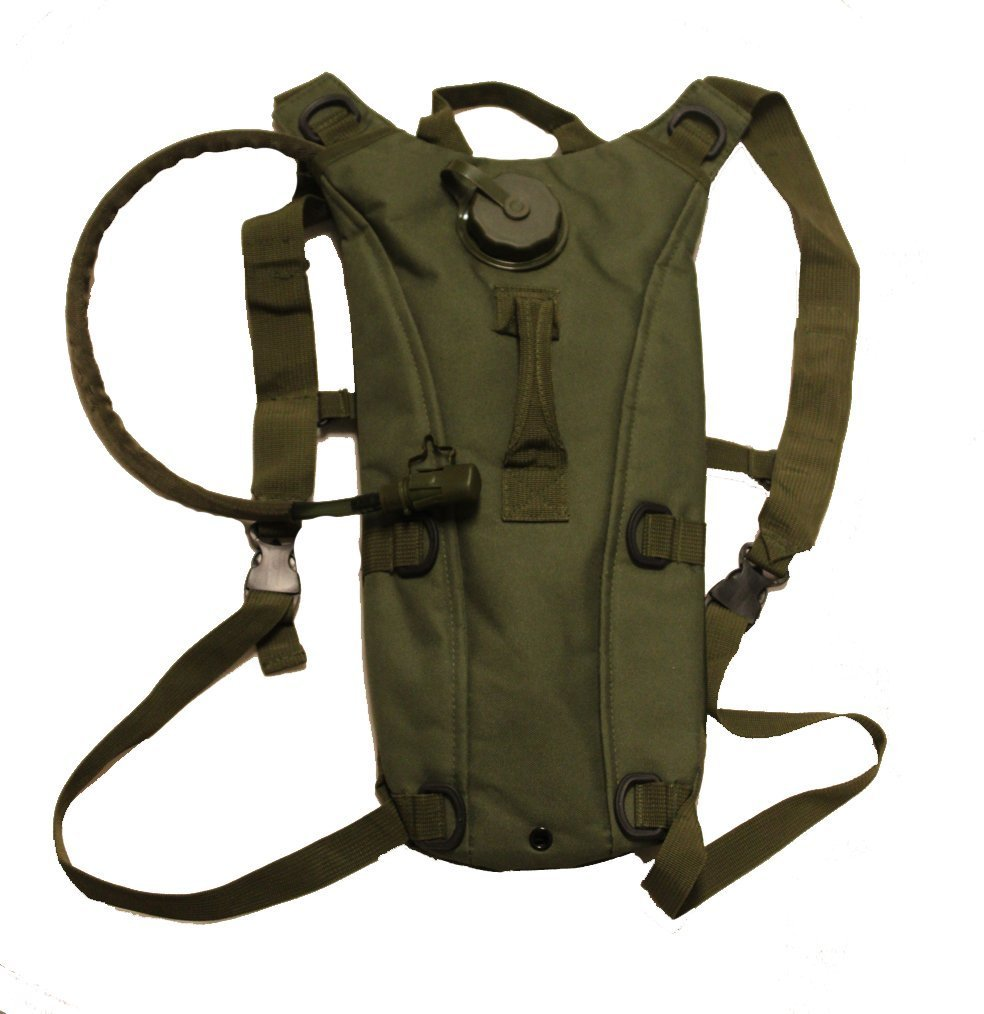 Ultimate Arms Gear Tzahal Zahal IDF Series OD Green Vest Special Israeli Defence Forces Vest + OD Olive Drab Green Hydration Pack Backpack 2.5 Liter / 84 oz. Water Drinking Bladder Reservoir Capacity System Includes Hosing, Hands Free Bite Valve, Heavy Du by Ultimate Arms Gear