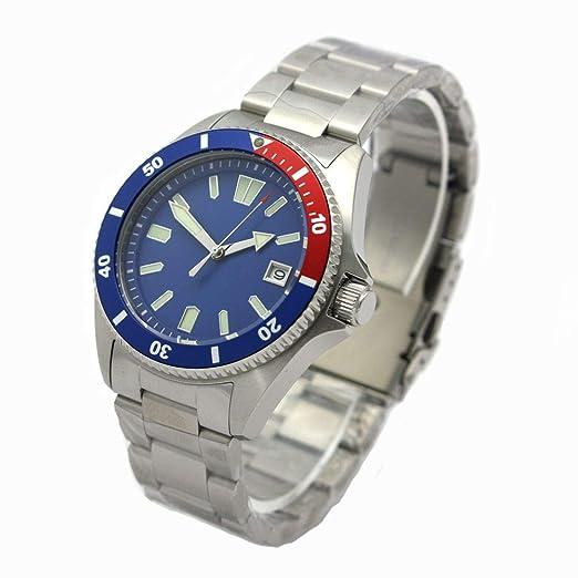 Professional Reloj de Buceo automático 20 ATM ep3855 Hombre Diver 200 m Pepsi Azul: Amazon.es: Relojes