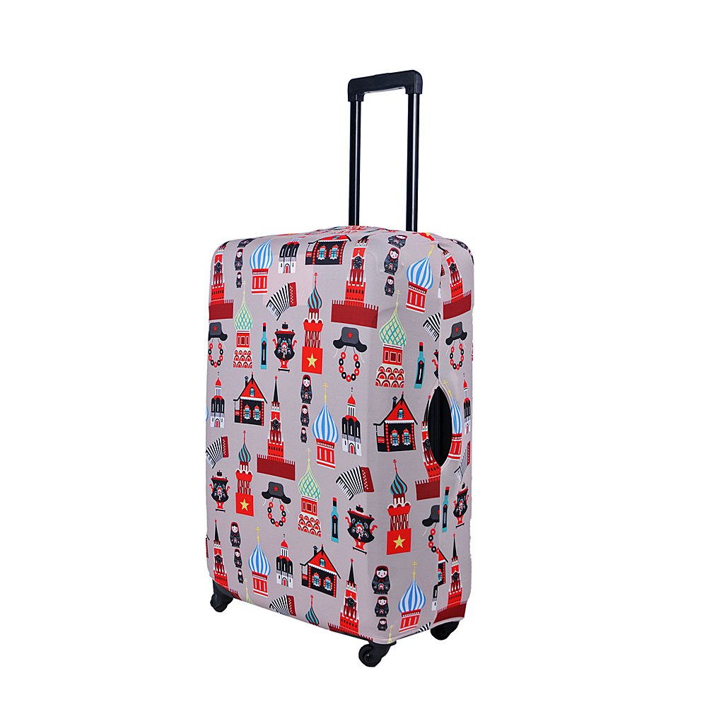 Russia Famous Building Style luggage cover L Size Fits 26 28 30 Inch