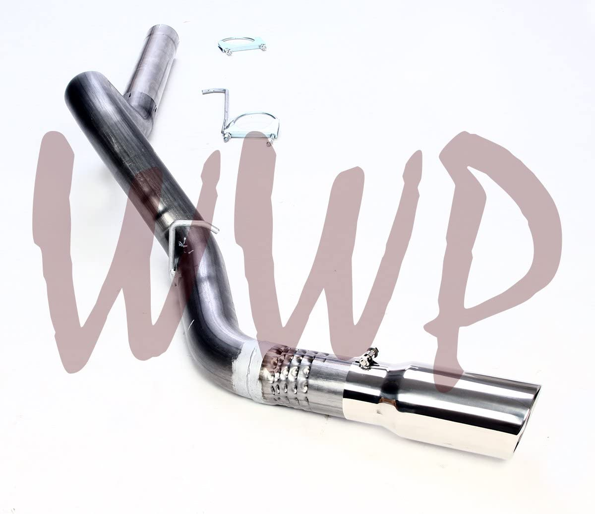 """Stainless Steel 4/"""" Down Pipe Back Exhaust Kit 01-07 Chevy//GMC 6.6L Turbo Diesel"""