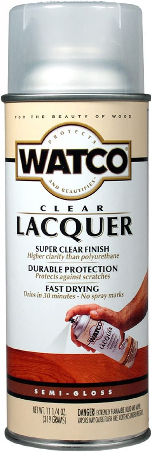11.25 Oz Clear Lacquer Semi Gloss Wood Finish Spray [Set of 6]