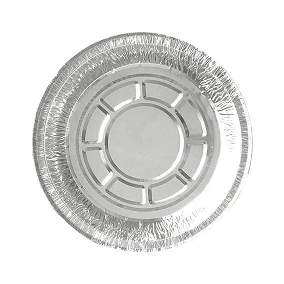 BESTONZON 50 piezas desechables de aluminio Tarta de tarta Pands sartenes para hornear redondas para hornear Quiche Party Potluck Catering 285ML (Sin tapa): ...