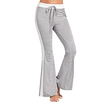 Gyratedream Pantalones Mujer Casual cordón Cintura Pierna a ...