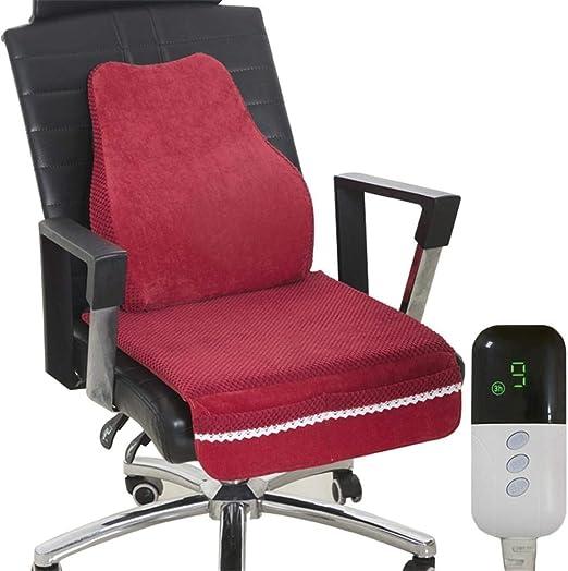 NUEVO Cojín de soporte lumbar calentado con cojín de asiento para ...