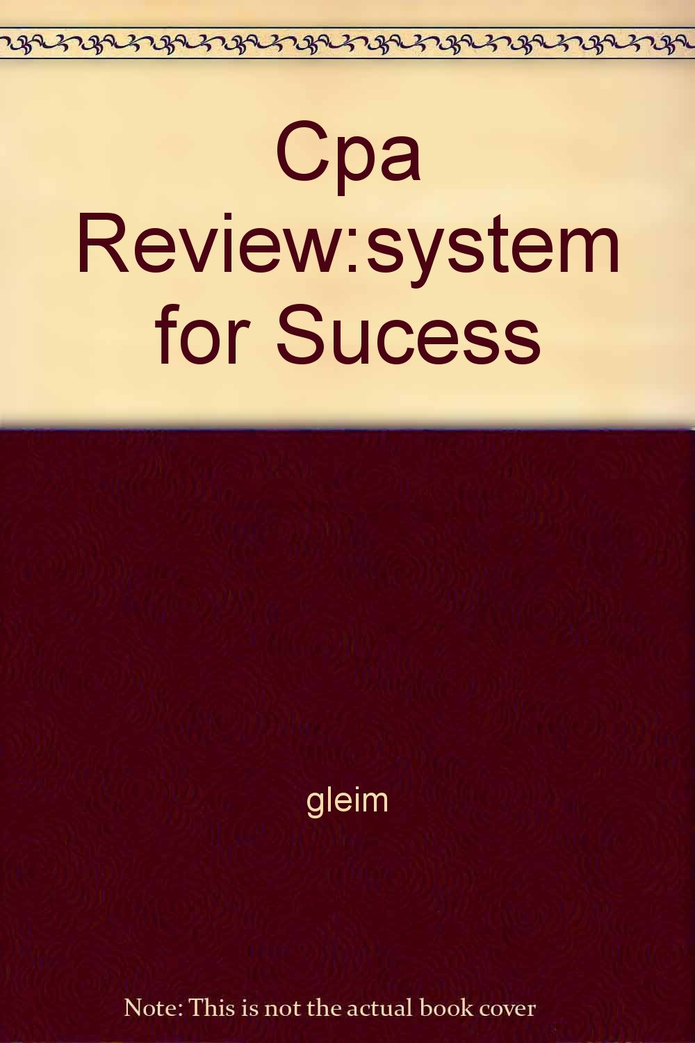 Cpa Review:system for Sucess pdf