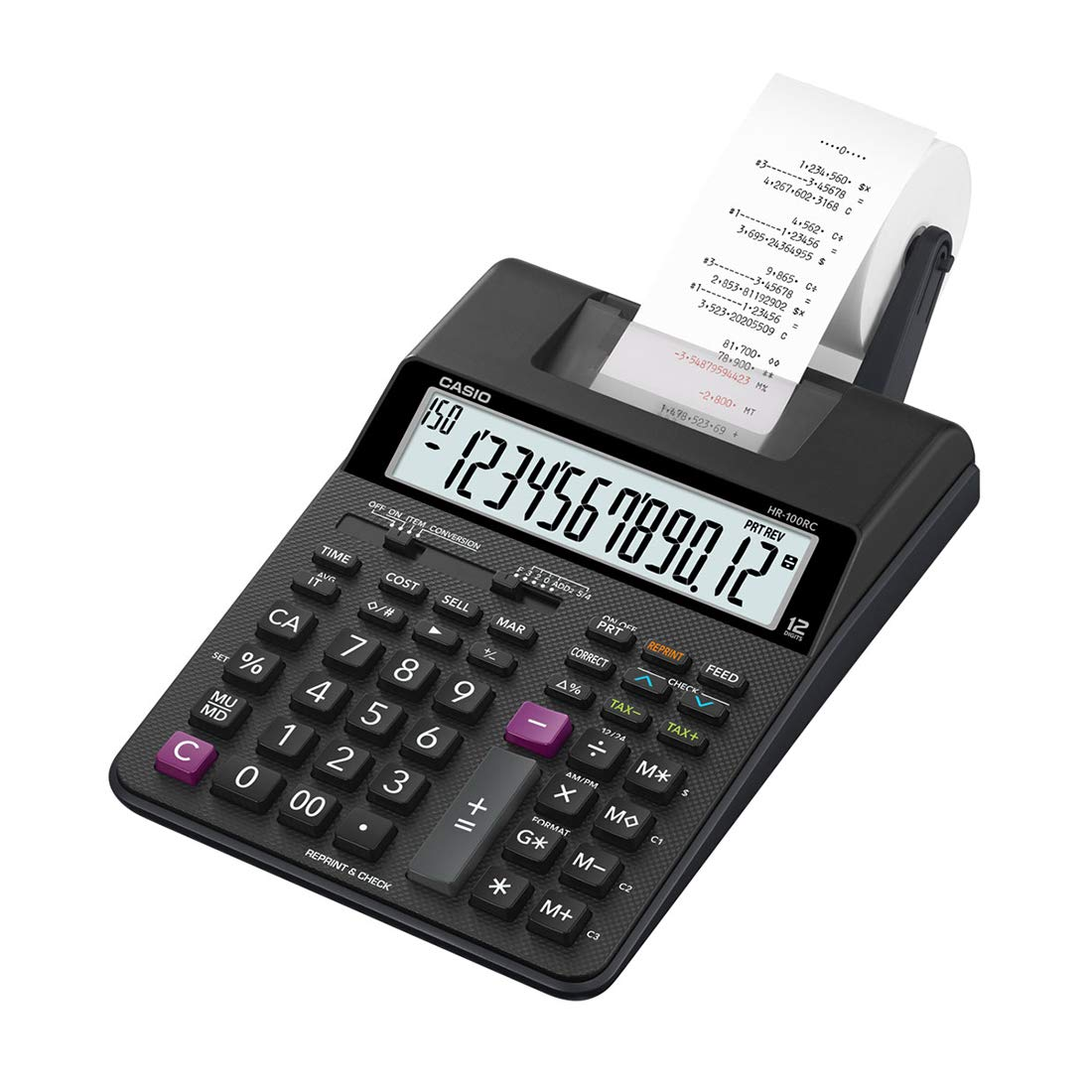 Casio HR-8RC Mini Desktop Printing Calculator, New