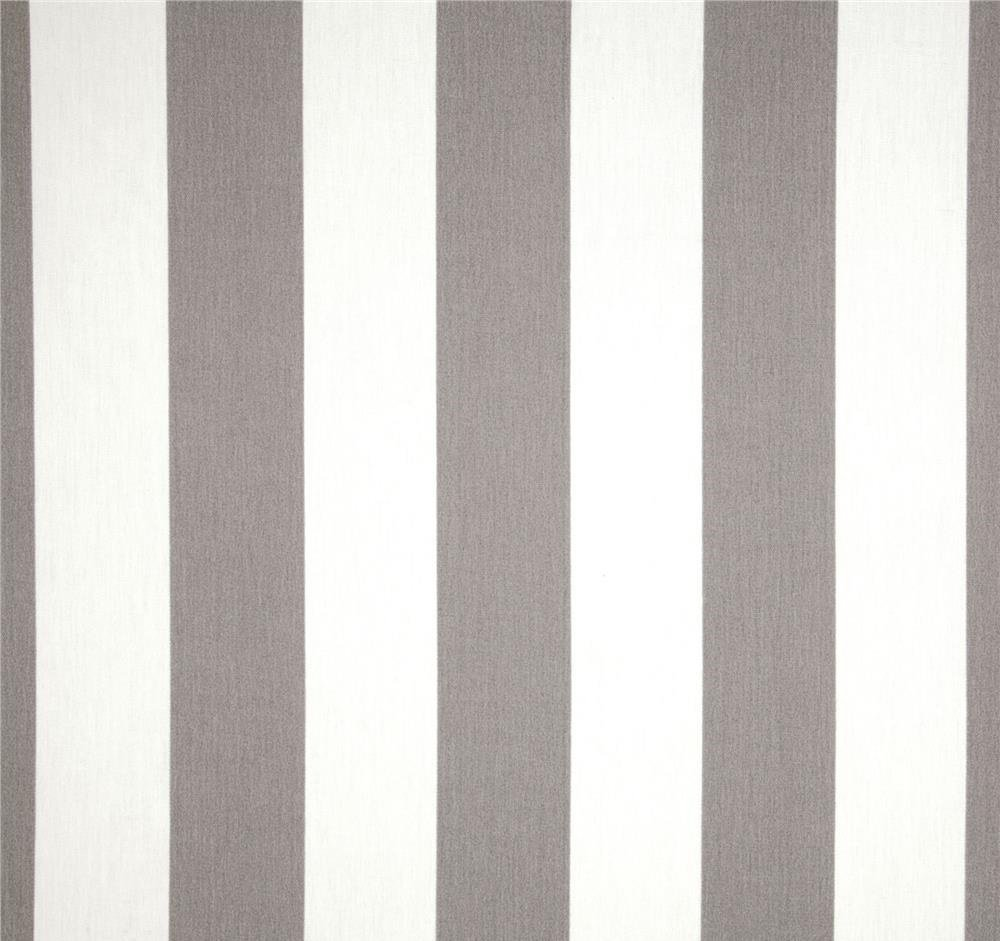 RSH Décor Indoor Outdoor Set of 4 Decorative Throw/Toss Pillows ~ Grey/Gray & White Cabana Stripe - Choose Size (12'' x 20'')