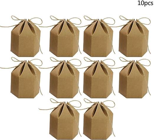 Lecimo Hexagon Kraft Paper Box Birthday Boutique Favor Caja De ...