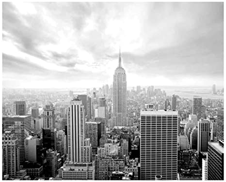 Jp London Md5a002 105 Feet Wide By 85 Feet High New York City Skyline Empire Black And White Removable Full Wall Mural