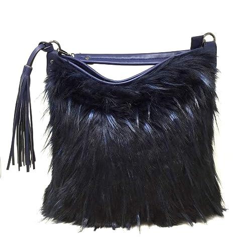 f05ad9bf05 Angkorly - Sac à main Cabas en bandoulière Tote bag Fourre-tout fausse  fourrure cuir