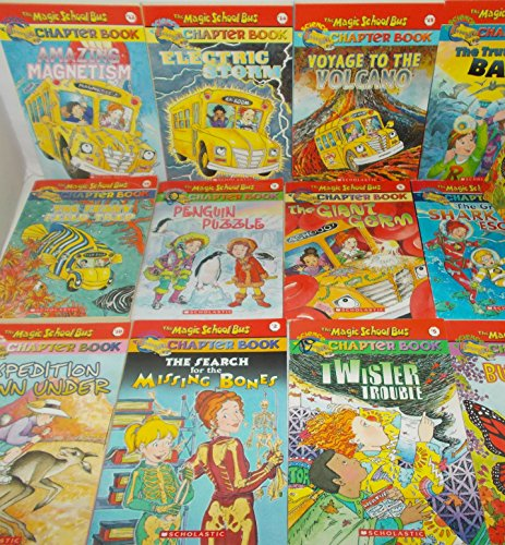 The Magic School Bus Twelve Book Bundle Collection, Includes: Amazing Magnetism-Electric Storm-Voyage To The Volcano-The Truth about BATS-The Giant Germ-The Great Shark Escape-Butterfly Battle-The Fishy Field Trip-Penguin Puzzle-Expedition Down Under (Magic School Bus Electric Storm)