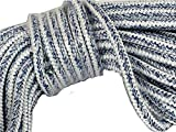 3/4'' X 60' 12 carrier, 24-strand Arborist Bull Rope, White/Blue