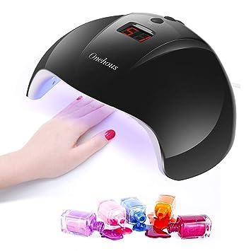 Lampara Led UV Uñas,Secador de uñas de Lampara uñas con 3 temporizadores de 30s, 60s y 90 s,Pantalla LCD, Ideal para uñas de gel y todo tipo de ...