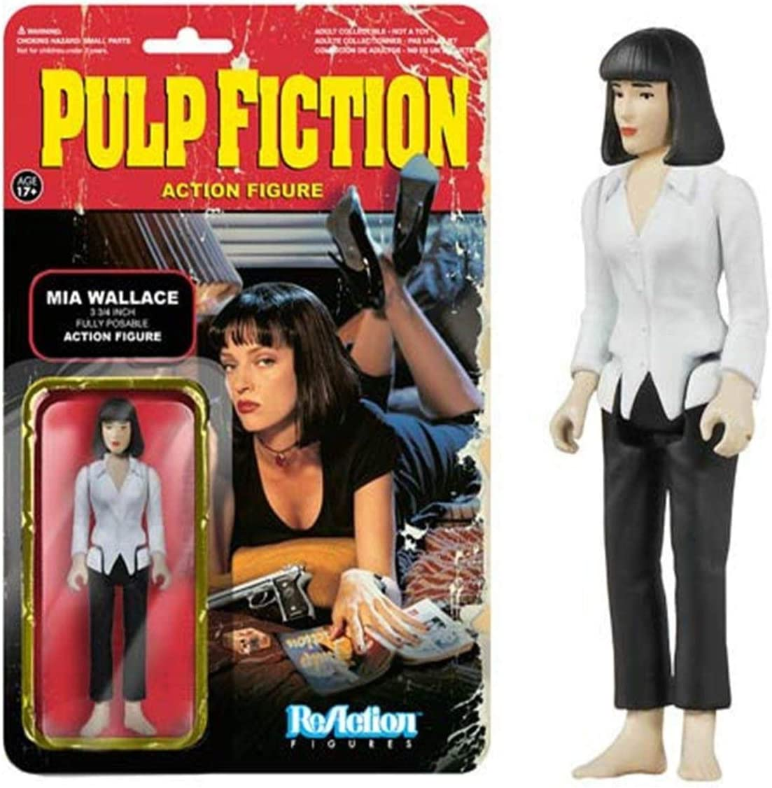 Figura Reaction 9 a 10 cm Pulp Fiction Mia Wallace: Amazon.es ...