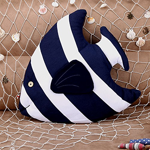 BETTERLIFE Navy Pillow Fish Cushion Nautical Home Furnishing Include Pillow