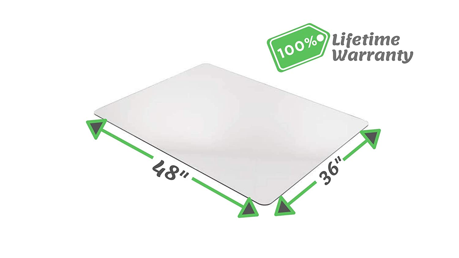 Matricks Office Chair Mat for Hard Floor Multipurpose Floor Protector Clear Polycarbonate Desk Chair Mat Perfect for Hardwood Floor Guaranteed Long-Lasting Protection 36 x 48
