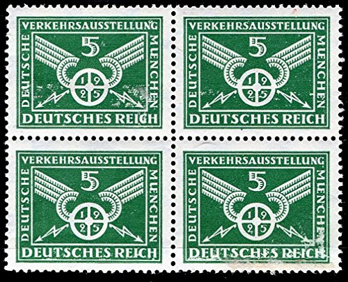 German Stamp 1925 Traffic Wheel German Traffic Exhibition Munich MNH (Stamp Exhibition Block)