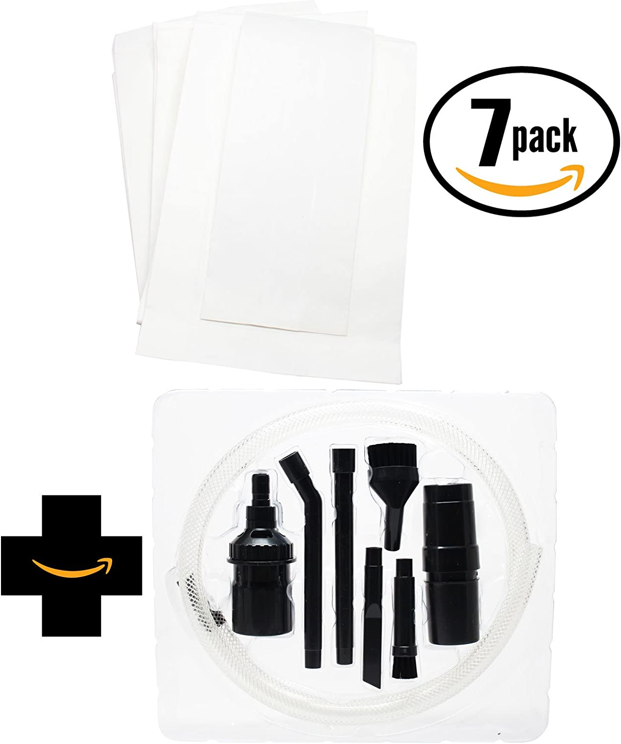 21 Replacement F & G Vacuum Bags 52320C with 1 Micro Vacuum Attachment Kit for Eureka, Sanitaire, Singer, Sears, Kenmore - Compatible with Sanitaire SC684F, Eureka F & G, Eureka 1400 Series, Koblenz U80, Eureka SC684F, Eureka 1950A, Eureka 1934A, Clarke 300, Clarke 400, Kenmore 5062, Kenmore 5002, Eureka 52320C