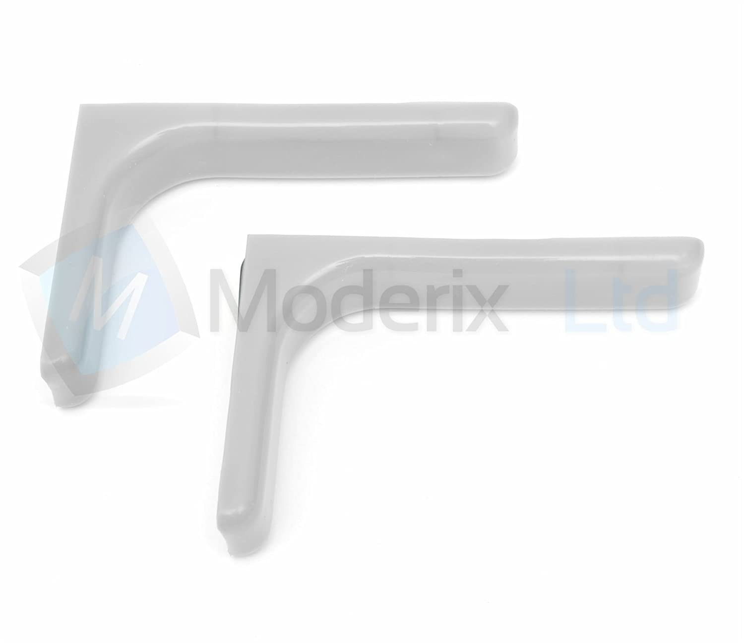 4 pairs Shelf support brackets with covers 120mm Invisible//Concealed Fixings White