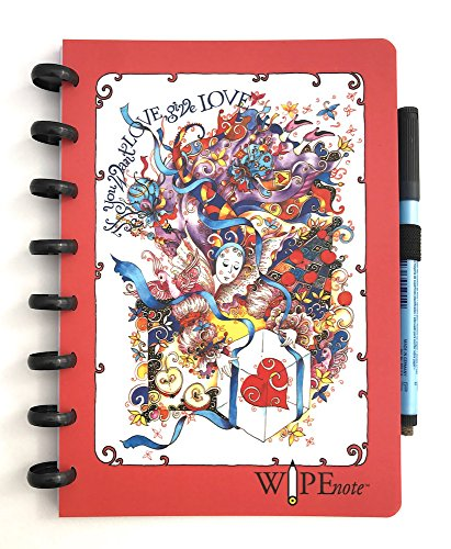 Wipenote- reusable whiteboard Notebook -(MEDIUM- A5) 50 pages by Wipenote