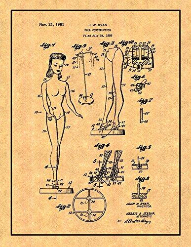 "Barbie Doll Patent Print with Border (8"" x 10"") M10294"