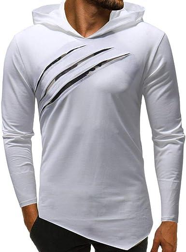 Sudadera con Capucha Manga Hombre De Simple Estilo para Camisa Larga con Capucha para Hombre Camisa