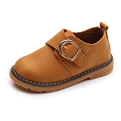Zapatos de Vestir Mocasines para Niños Zapatos de Cuero Oxford Casual Zapatos para Caminar Plano Tacón Comodidad: Amazon.es: Zapatos y complementos