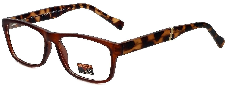 Big/&Tall Gotham Style Designer Eyeglasses GSF29-MBRN in Matte Brown 53mm
