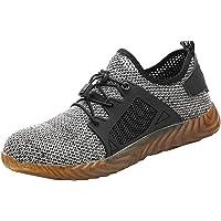 Sharemen Zapatos de Seguridad para Trabajo, Ligeros, cómodos, industriales y de construcción, Zapatillas de Malla Transpirable Antideslizantes