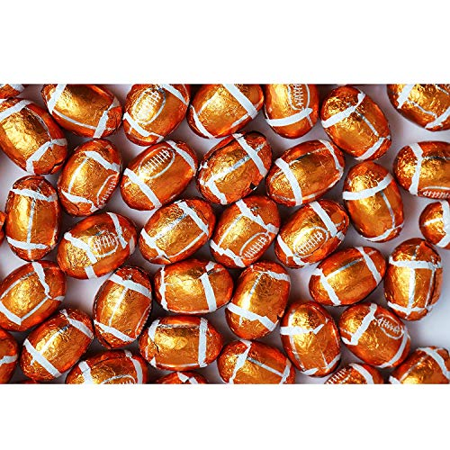 - FirstChoiceCandy Chocolate Footballs Foil Wrapped 2 Pound Resealable Bag