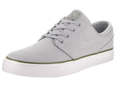 cheaper d4ab8 a3a85 Nike Men s Zoom Stefan Janoski Grey Canvas Skate Shoes 8